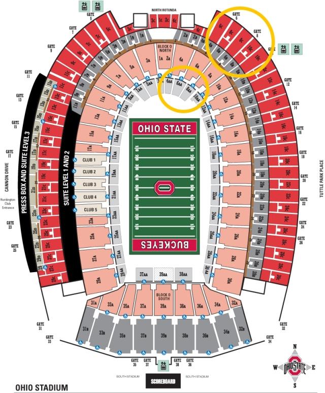 Ohio state seating chart